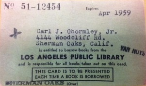 1959 library card