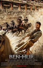 A man racing on a chariot. Movie poster