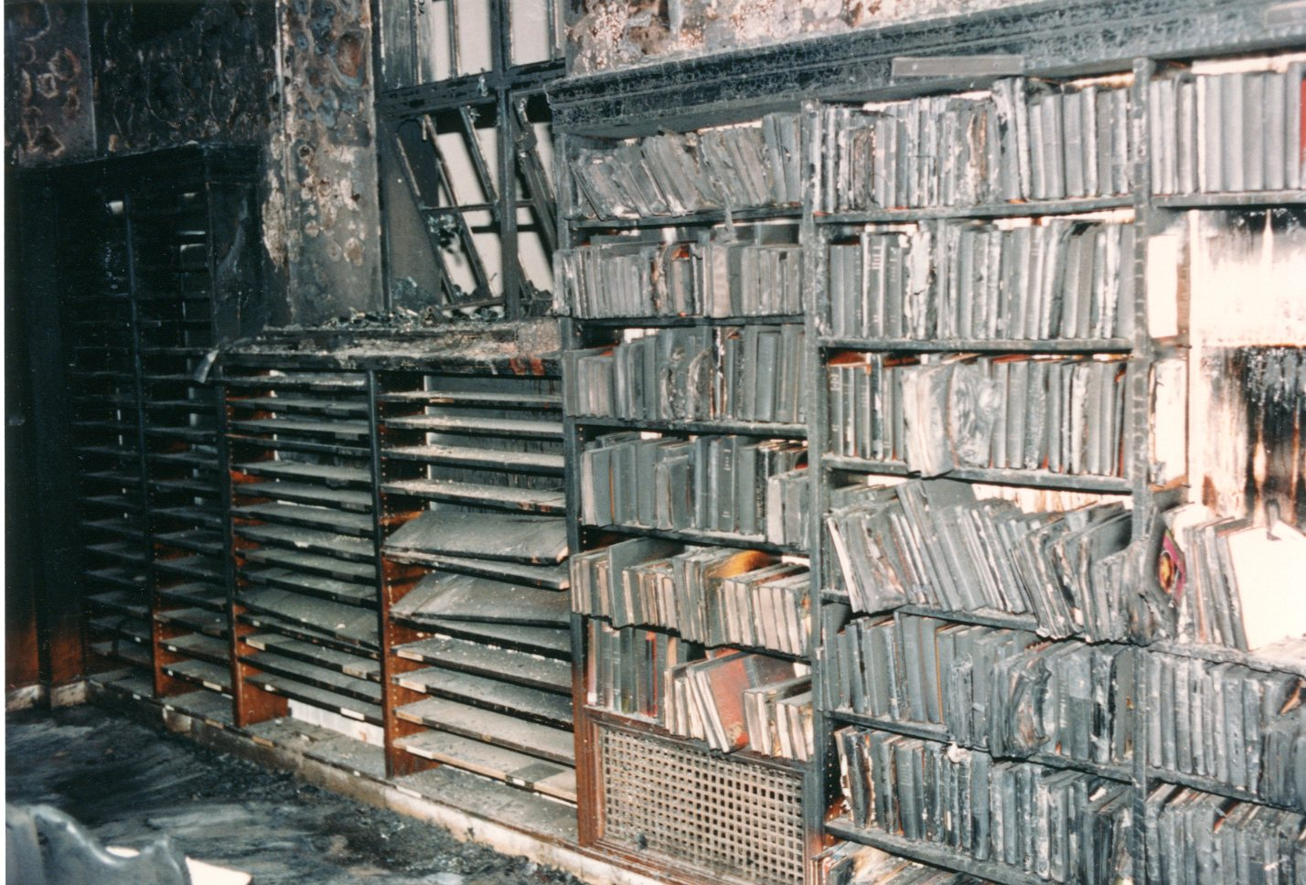 Central Library Burned Books