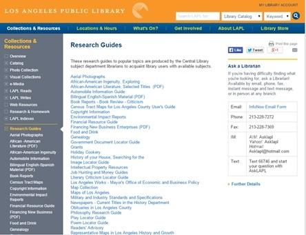 LAPL Research Guides