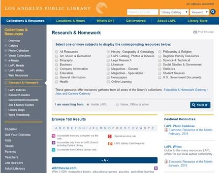 LAPL Research and Homework