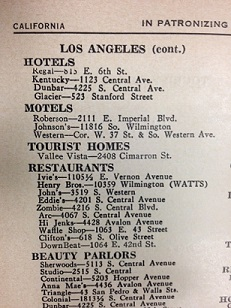 Partial listings for Los Angeles from the 1952 edition