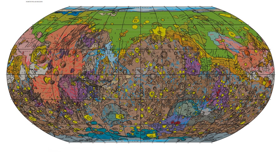 geological maps of Mars