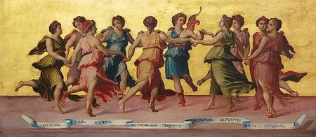 Apollo and the Muses by Robert Sanderson (British, 1848–1908)