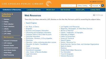 LAPL Web Resources