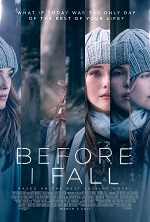 Several photos of the same girl spliced together. Movie poster