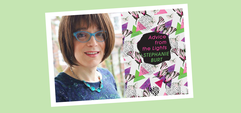 book cover art for Advice from the Lights and portrair of the author Stephanie Burt