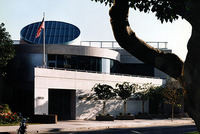 photo of library building exterior