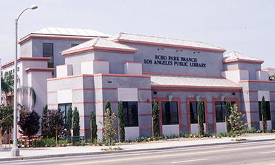 exterior photo of the Echo Park  Branch Library