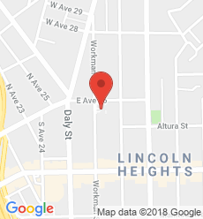 Map for Lincoln Heights Branch