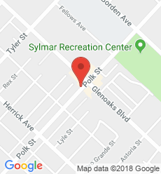Map for Sylmar Branch