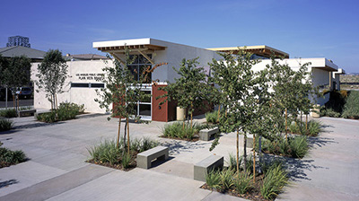 Exterior view of the Playa Vista Library