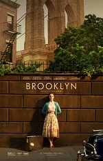 A woman in a dress leans against a brick wall. Movie poster