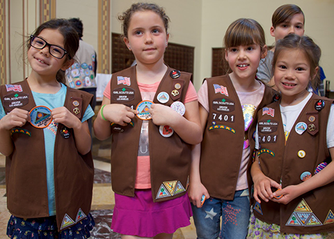 a group of girl scouts