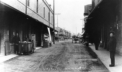 Chinatown in Los Angeles ca. 1900