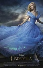 A woman in a blue dress running off camera. Movie poster
