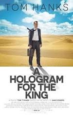 A man in a suit walks through a desert. Movie poster