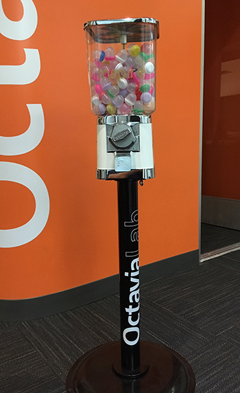 the gumball machine in the octavia lab