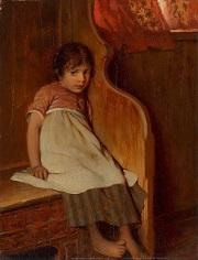 Die Schüchterne (The Shy) by Hermann von Kaulbach (1846-1909)