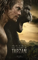 A man and an ape scream off camera. Movie poster.