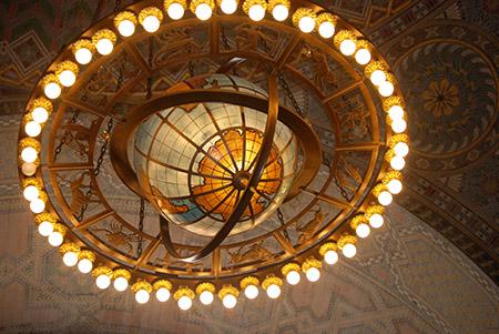 Lawrie's iconic rotunda chandelier