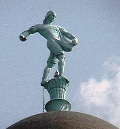 "Lawrie's ""Sower"" tops the Nebraska Capitol Dome"