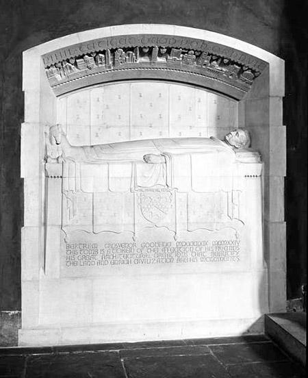 Bertram Goodhue's tomb, designed by Lee Lawrie
