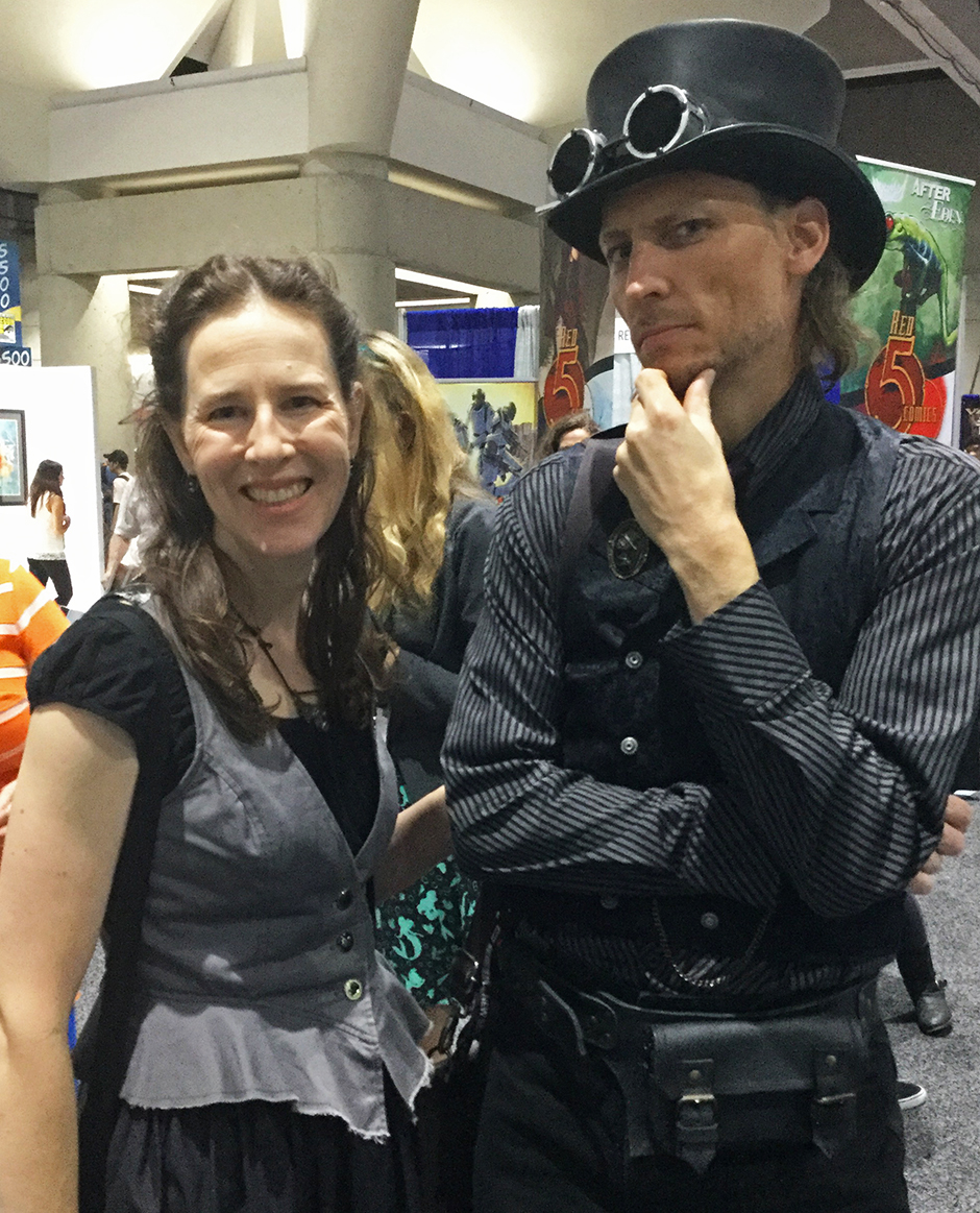Corinda and her husband at Comic-Con