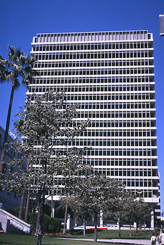 The Clara Shortridge Foltz Criminal Justice Center, as seen from Temple Street on March 27, 1972.
