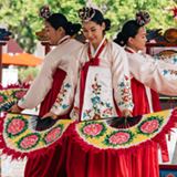 dancers in colorful clothes
