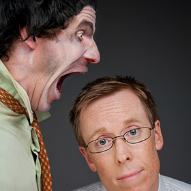 photo of two men screaming