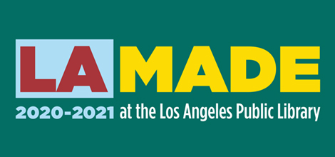 colorful logo for LA Made 2020