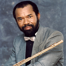 Hubert Laws with his flute