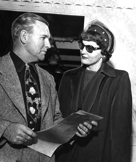 March 5, 1951 Brenda Allen Goes Back To Jail - Ex-Vice Queen Escorted by Sheriff's Detective Pat O'Donnell