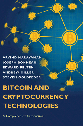Book cover for Bitcoin and Cryptocurrency Technologies
