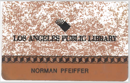 "Pfeiffer has kept the library card presented to him in 1993 featuring the chevron design. ""I treasure it,"" he said."