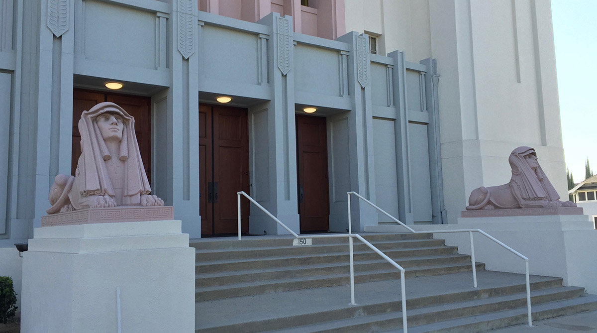 Entrance  to Scottish Rite Temple, Pasadena