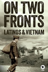 DVD Film Cover of On two Fronts: Latinos & Vietnam. Soldier arriving home with his bag. http://www.pbs.org/veterans/stories-of-service/stream-tv/a-to-z/two-fronts-latinos-vietnam/