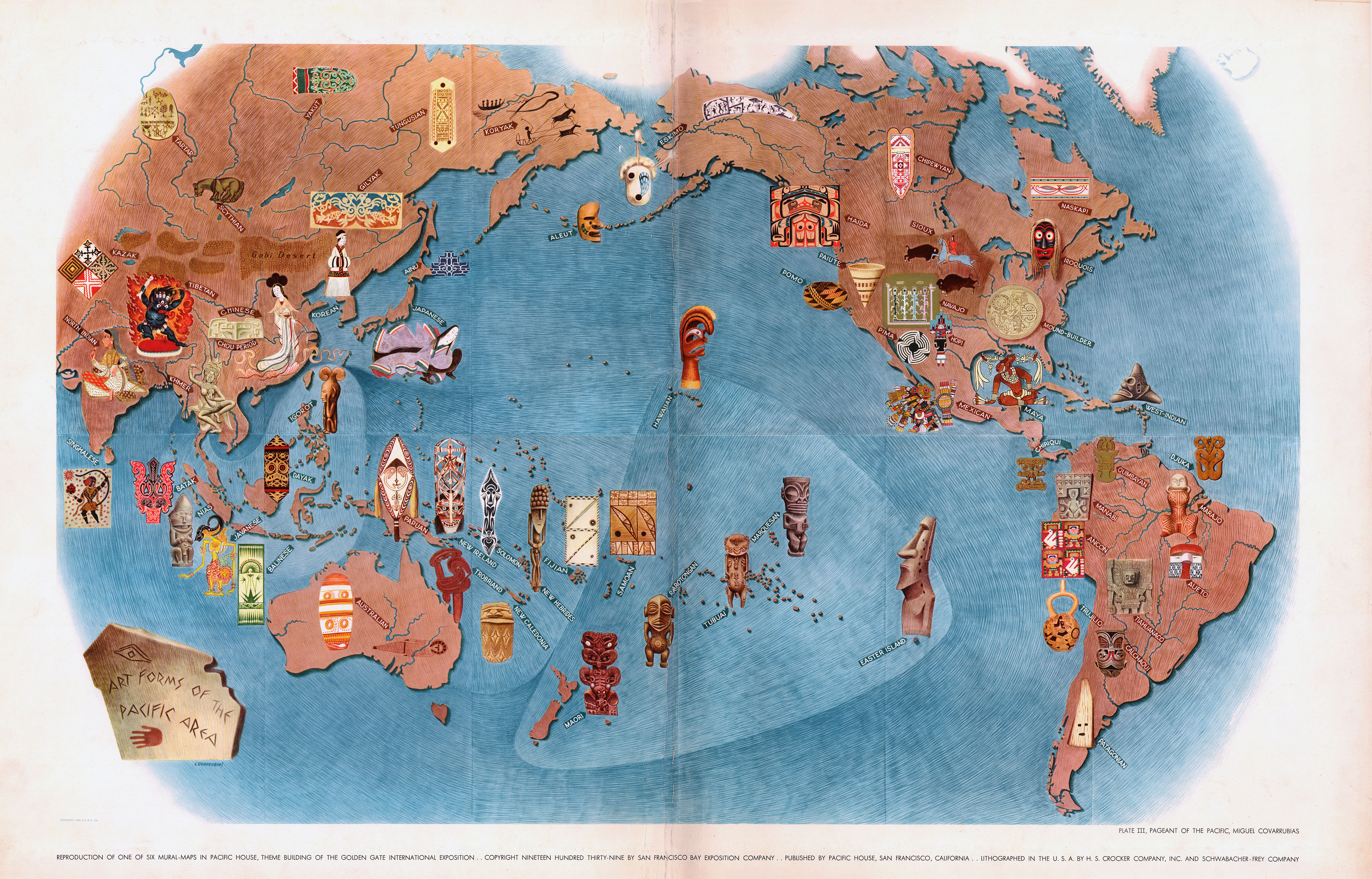 Pictorial Map: Art Forms of the Pacific