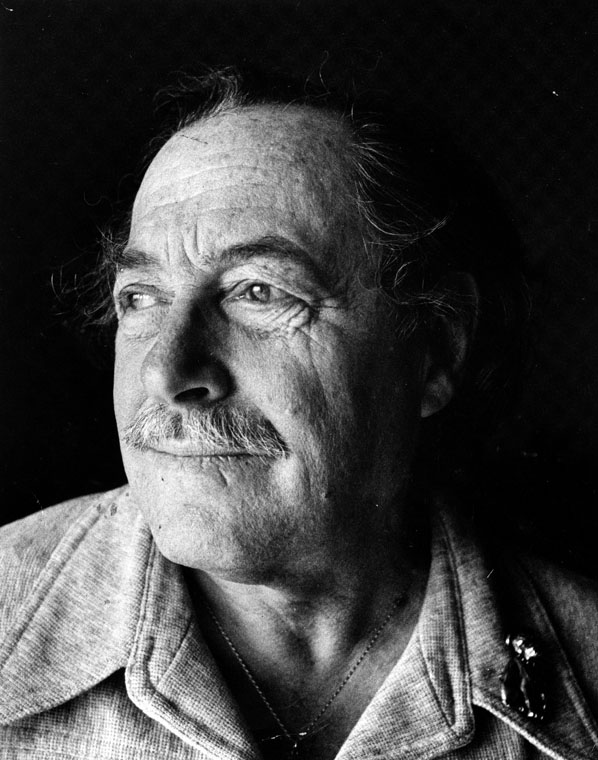 Portrait of Tennessee Williams dated February 6, 1979. Los Angeles Public Library Herald-Examiner Collection.