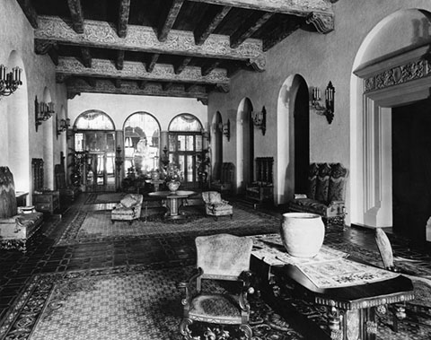 Knickerbocker Hotel, interior. LAPL Photo Collection