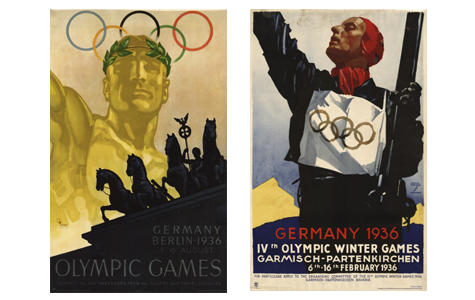 1936 Summer and Winter Olympic Games travel posters