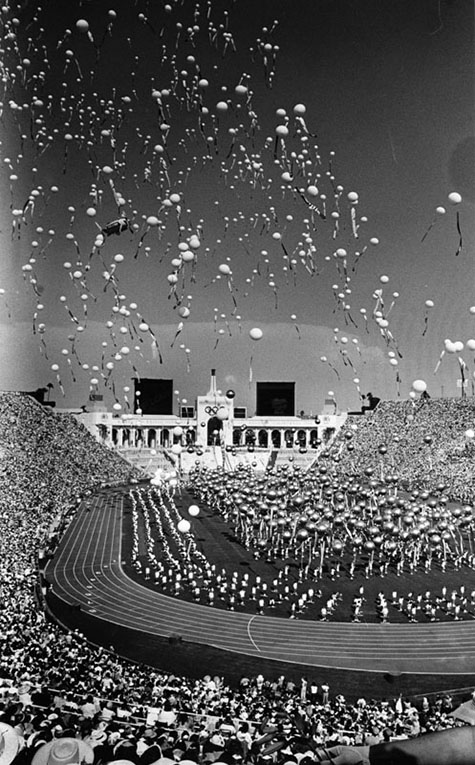 Opening day ceremonies for the 1984 Olympics