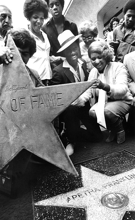 Aretha Franklin gets her star