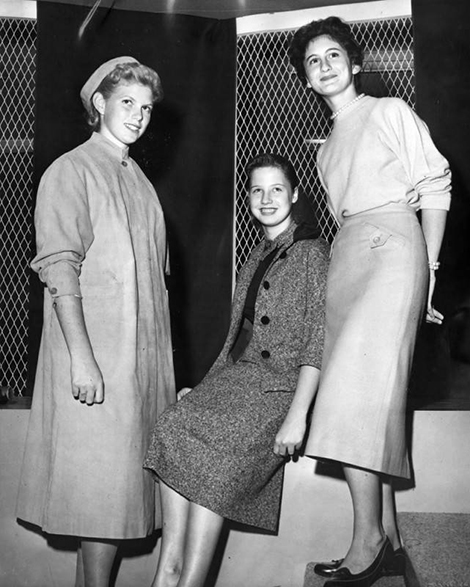 Shown modeling fall fashions are Sandie Bingaman, Sonia Dennis and Jane Bum Balugh