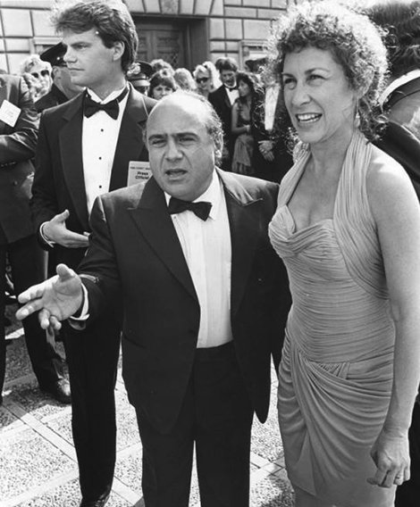 Danny Devito and Rhea Perlman at Emmy Awards