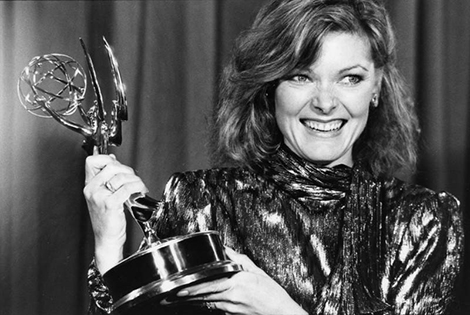 Jane Curtin with Emmy