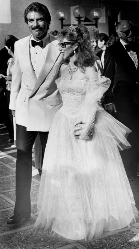 Tom Selleck and Jillie Mack at Emmys