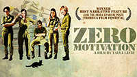 a mvoie poster of zero motivation: five women in space suits