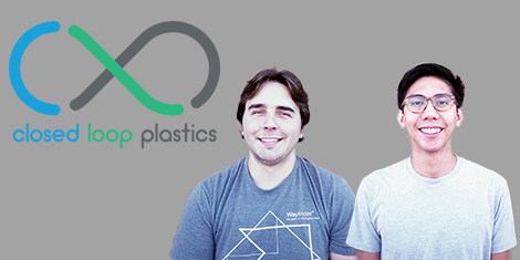 Closed Loop Plastics Logo and Photos of Co-Founders